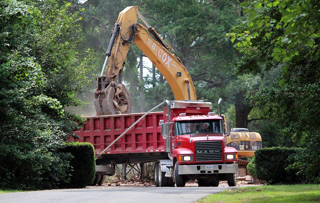 demolition truck