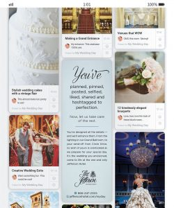 Ndp created an ad resembling a Pinterest board for The Jefferson Hotel.