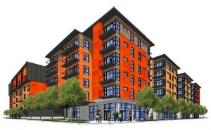 A rendering of Better Housing Coalition's hotel conversion project.