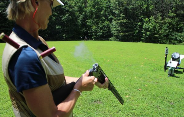 Bruffy does target practice at Old Forge Sporting Clays. (Jonathan Spiers)