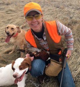 Bruffy on a G.R.I.T.S. pheasant hunt in Montana. (Courtesy Kim Bruffy)