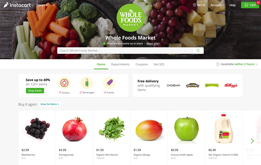New service brings Wegman's, Whole Foods, Publix to local