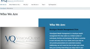 visionquest website