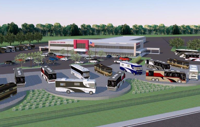 Rendering Of The 35 000 Square Foot Harley Club Road Facility General Rv