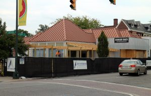 The Burger Bach under construction in Carytown, where delays have caused the owner to pay double rent. (Jonathan Spiers)