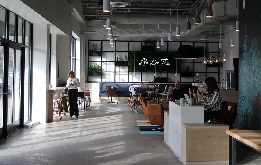 Gather brings coworking trend to short pump richmond for Office design trends 2018