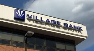 village bank sign