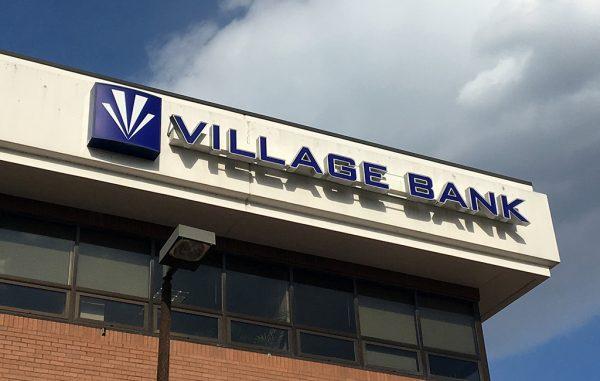 village bank sign