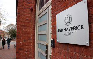 red maverick sign