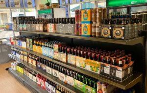 beer shelves