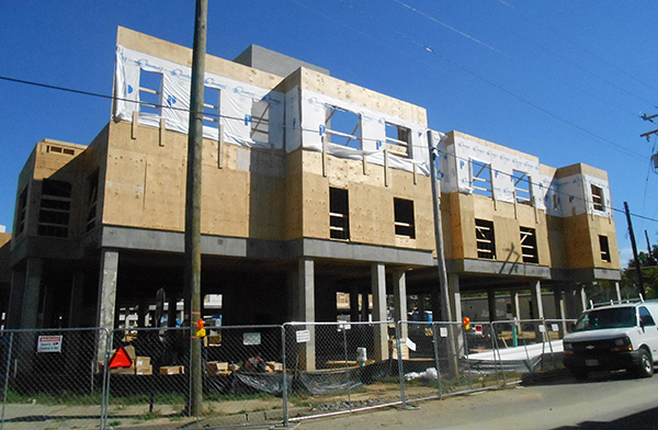 The new building at 1200 Semmes Ave. (Photos by Burl Rolett)