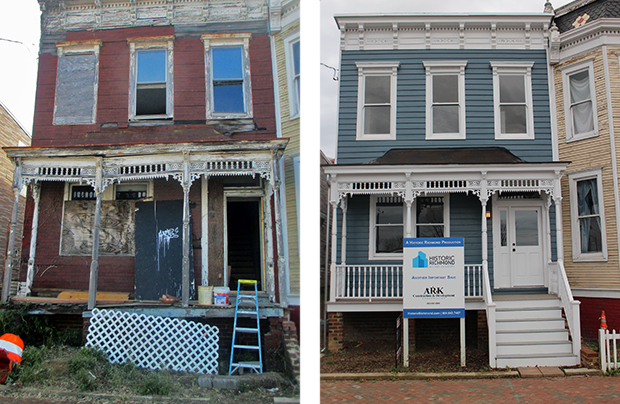 Rehab effort salvages dilapidated house richmond bizsense for House flips before and after