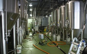 The 5,000-barrel Kindred Spirits brewing facility. (J. Elias O'Neal)