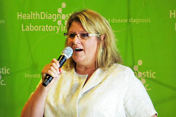 Health Diagnostic Laboratory CEO Tonya Mallory, pictured at the ribbon-cutting ceremony at HDL's new headquarters. Photos by Burl Rolett.