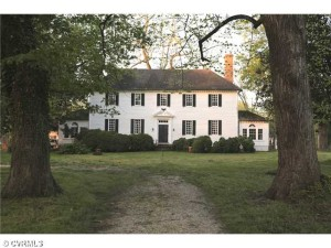 The Warsaw house is Barnett's oldest current listing. Courtesy of CVRMLS.