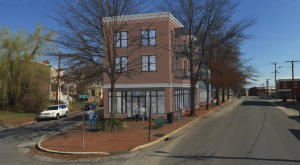 Four apartments and a new restaurant concept are planned for Church Hill. Rendering courtesy of