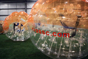 Much of RVASSC's startup costs comes from the bubble soccer equipment.