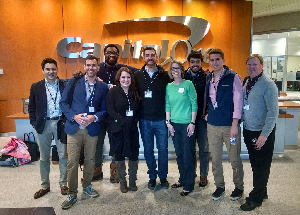 Last year's Lighthouse Labs class at Capital One's offices.