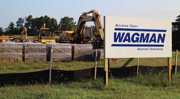 Wagman Cos. has started work on its new Petersburg headquarters. Photo by Burl Rolett.